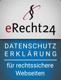 erecht24 siegel datenschutzerklaerung blau 1 - Datenschutzerklärung