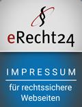 erecht24 siegel impressum blau - Impressum